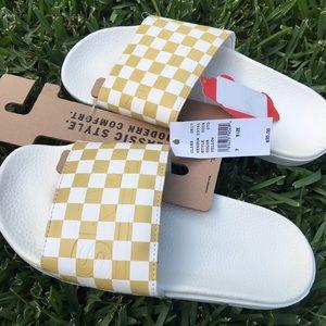 4c66dd3129e Vans Shoes - VANS SLIDES CHECKERBOARD PINEAPPLE SLICE